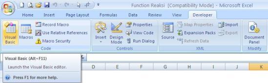 Tombol Visual Basic Editor