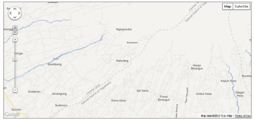 Peta Kaliurang