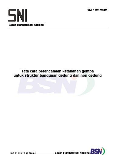 Cover SNI 1726 2012